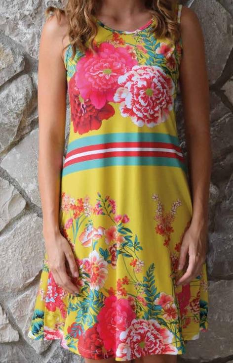 Strandkleid Giallo von der Eigenmarke Baermanns.