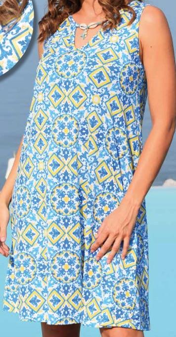 Strandkleid Blu von der Eigenmarke Baermanns.